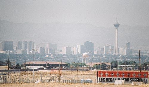 las vegas skyline. The Las Vegas Skyline from the